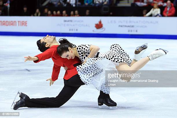 Anna Cappellini and Luca Lanotte of Italy compete in the Ice Dance Short Program during the ISU Grand Prix of Figure Skating Skate Canada...