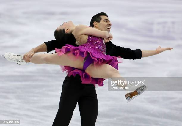 Anna Cappellini and Luca Lanotte of Italy during the Figure Skating Ice Dance Short Dance program on day ten of the PyeongChang 2018 Winter Olympic...