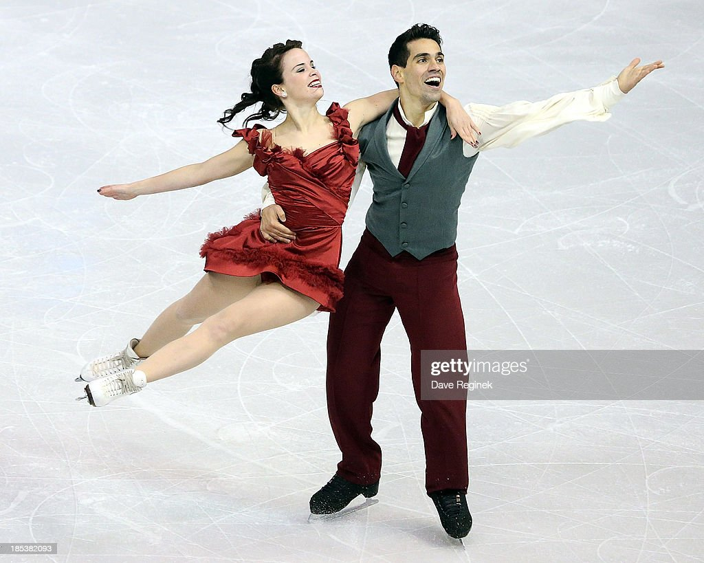 Anna Cappellini (L) and Luca Lanotte of Italy perform during the free dance of day two at Skate America at Joe Louis Arena on October 19, 2013 in Detroit, Michigan.