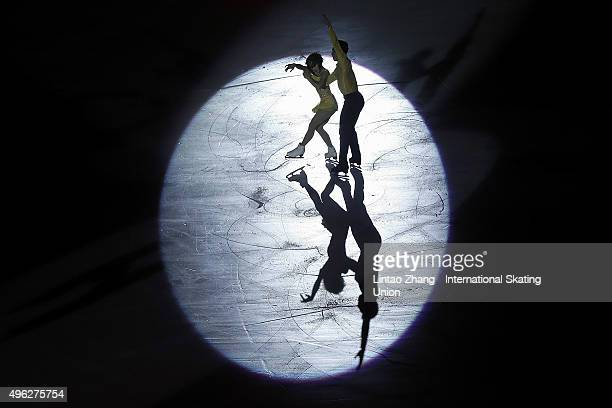 Anna Cappellini and Luca Lanotte of Italy perform during the Exhibition Program on day three of Audi Cup of China ISU Grand Prix of Figure Skating...