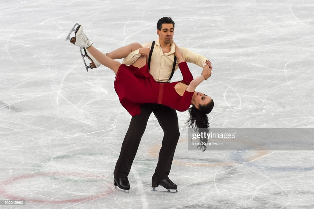 Anna Cappellini and Luca Lanotte (ITA) skate in the free dance of the Ice Dancing competition during the 2018 Winter Olympic Games at the Gangneung Ice Arena on February 20, 2018 in PyeongChang, South Korea.