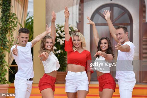 Anna Carina Woitschak during the ARD live tv show 'Immer wieder sonntags' at EuropaPark on June 17 2018 in Rust Germany