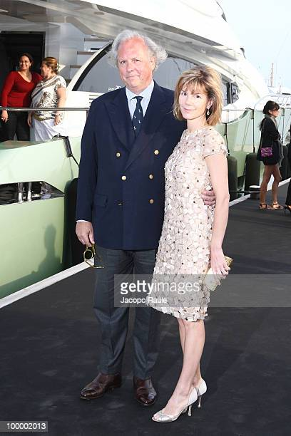 Anna Carter and Graydon Carter are seen during the 63rd Annual International Cannes Film Festival on May 19 2010 in Cannes France