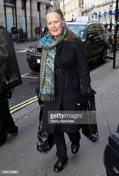 Anna Carteret attends the funeral of actor Roger LloydPack at St Paul's Church on February 13 2014 in London England