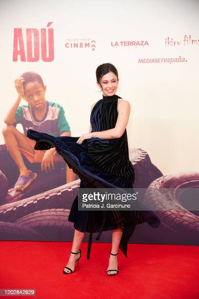 Anna Castillo attends 'Adu' premiere at Callao Cinema on January 28 2020 in Madrid Spain