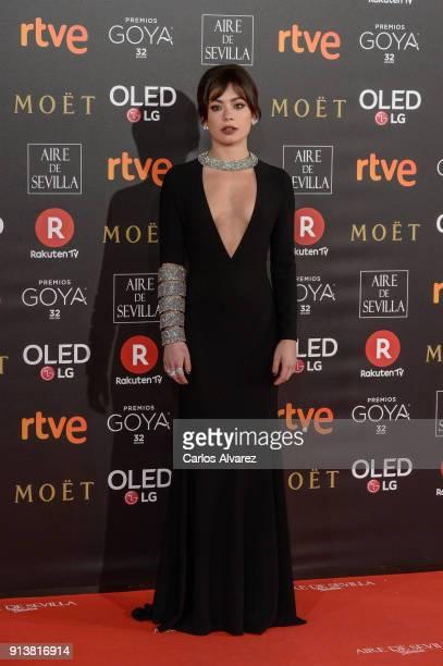 Anna Castillo attends Goya Cinema Awards 2018 at Madrid Marriott Auditorium on February 3 2018 in Madrid Spain