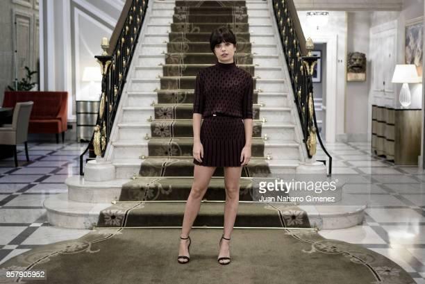 Anna Castillo is seen posing during a portrait session at Maria Cristina Hotel on September 28 2017 in San Sebastian Spain