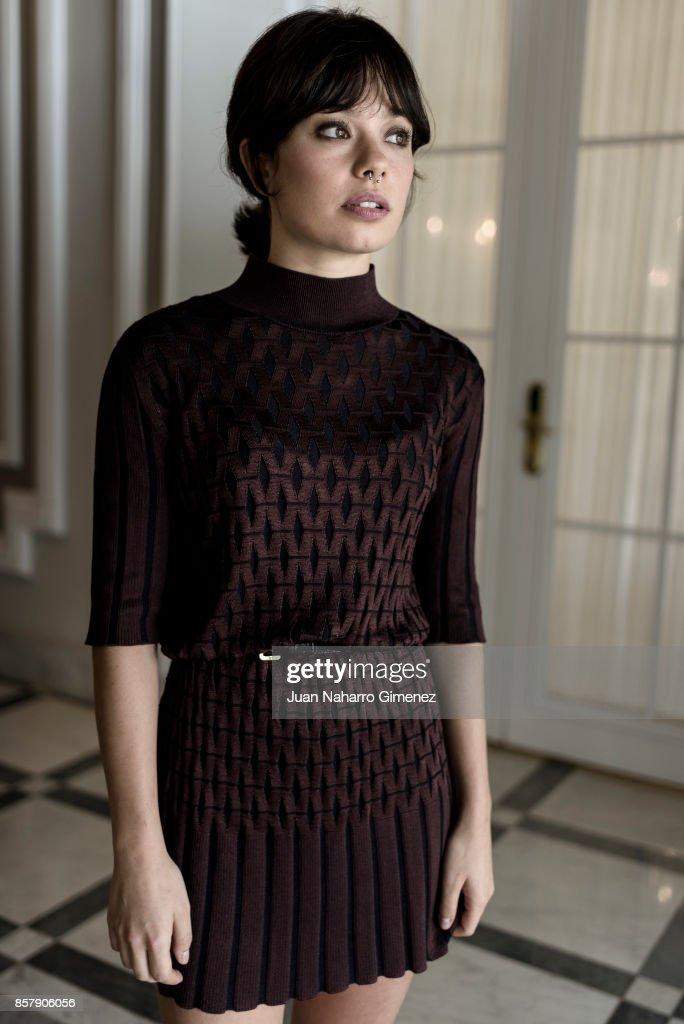 Anna Castillo is seen posing during a portrait session at Maria Cristina Hotel on September 28, 2017 in San Sebastian, Spain.