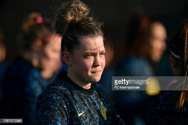 Anna Catelli of FC Internazionale looks on before the Women Serie A match between FC Internazionale and Juventus at Suning Youth Development Centre...