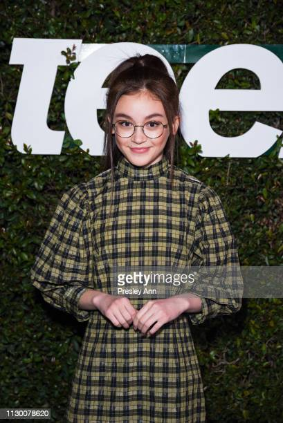 Anna Cathcart attends Teen Vogue's 2019 Young Hollywood Party Presented By Snap at Los Angeles Theatre on February 15 2019 in Los Angeles California