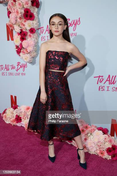 Anna Cathcart attends the premiere of Netflix's To All The Boys PS I Still Love You at the Egyptian Theatre on February 03 2020 in Hollywood...