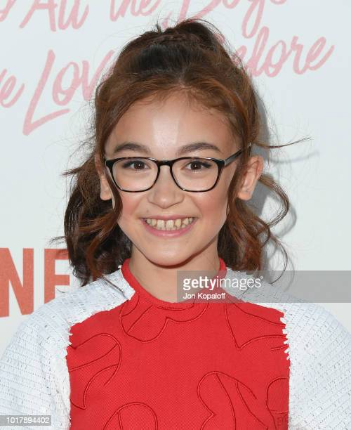 Anna Cathcart attends the screening of Netflix's 'To All The Boys I've Loved Before' at Arclight Cinemas Culver City on August 16 2018 in Culver City...