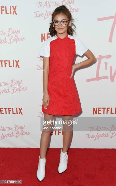 Anna Cathcart attends the screening of Netflix's To All The Boys I've Loved Before at Arclight Cinemas Culver City on August 16 2018 in Culver City...