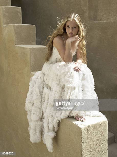 Anna Chakvetadze the Russian WTA women's professional tennis player poses for a portrait shoot on February 24 2008 in Dubai UAE Mandatory credits...