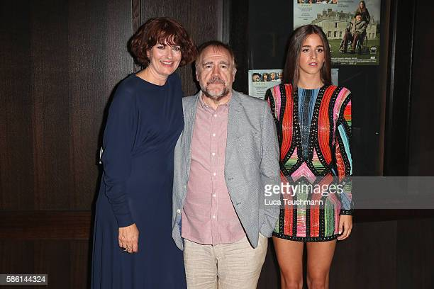 Anna Chancellor Brian Cox and Coco König arrive for the UK Film Premiere of 'The Carer' at Regent Street Cinema on August 5 2016 in London England