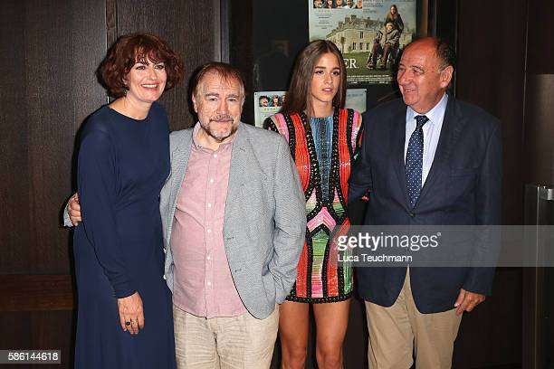 Anna Chancellor Brian Cox Coco König and Janos Edelenyi arrive for the UK Film Premiere of 'The Carer' at Regent Street Cinema on August 5 2016 in...
