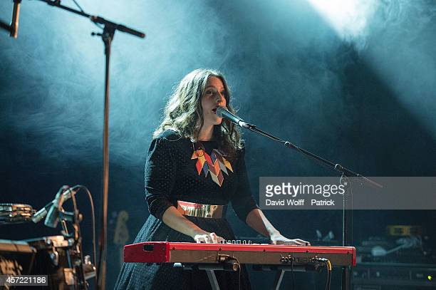 Anna Chedid from Nach performs during private showcase at Divan du Monde on October 14 2014 in Paris France