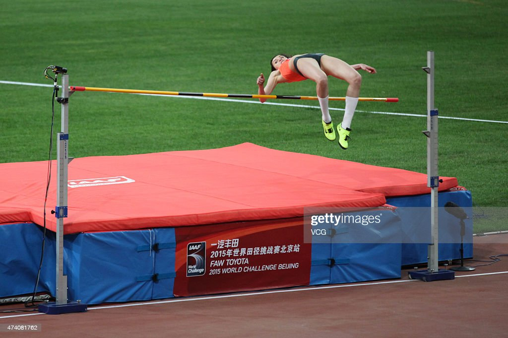 Anna Chicherova of Russia competes in the Women's High Jump during 2015 IAAF World Challenge Beijing Station at National Stadium (or Bird's Nest)on May 20, 2015 in Beijing, China.