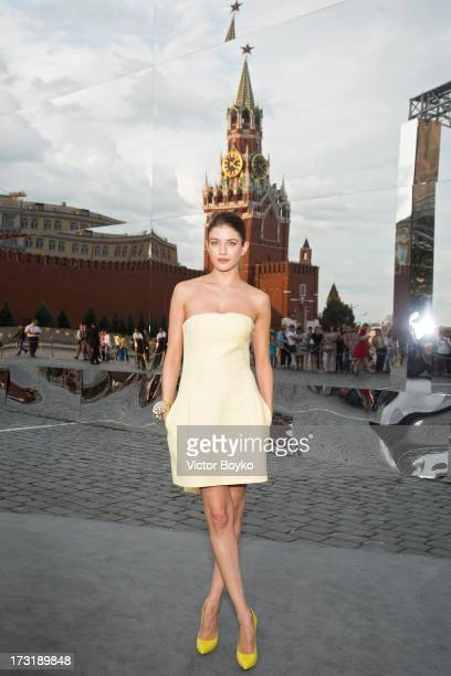 Anna Chipovskaya attends the Dior A/W 20132014 show at Red Square on July 9 2013 in Moscow Russia