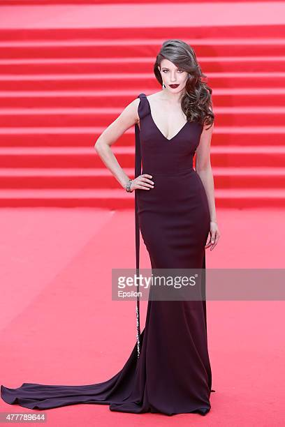 Anna Chipovskaya attends the opening ceremony of the Moscow International Film Festival at Pushkinsky Cinema on June 19 2015 in Moscow Russia