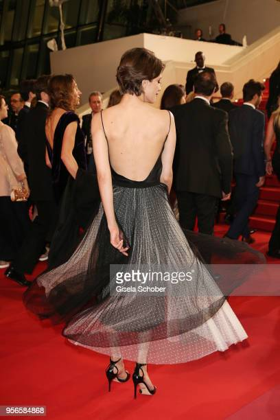 Anna Chipovskaya back detail attends the screening of Leto during the 71st annual Cannes Film Festival at Palais des Festivals on May 9 2018 in...