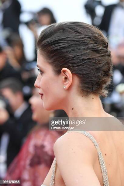 Anna Chipovskaya hair detail attends the screening of Everybody Knows and the opening gala during the 71st annual Cannes Film Festival at Palais des...