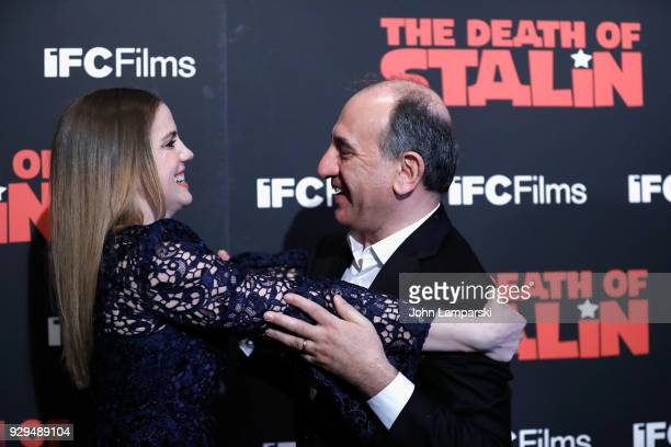 Anna Chlumsky and Armando Iannucci attend 'The Death Of Stalin' New York premiere at AMC Lincoln Square Theater on March 8 2018 in New York City