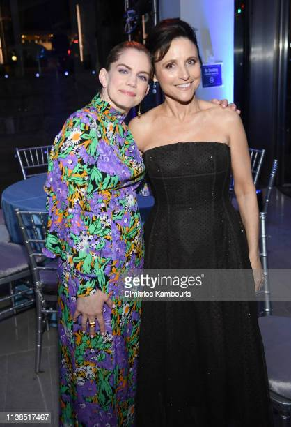 """Anna Chlumsky and Julia Louis-Dreyfus attend The """"Veep"""" Season 7 premiere after party at Alice Tully Hall, Lincoln Center on March 26, 2019 in New..."""