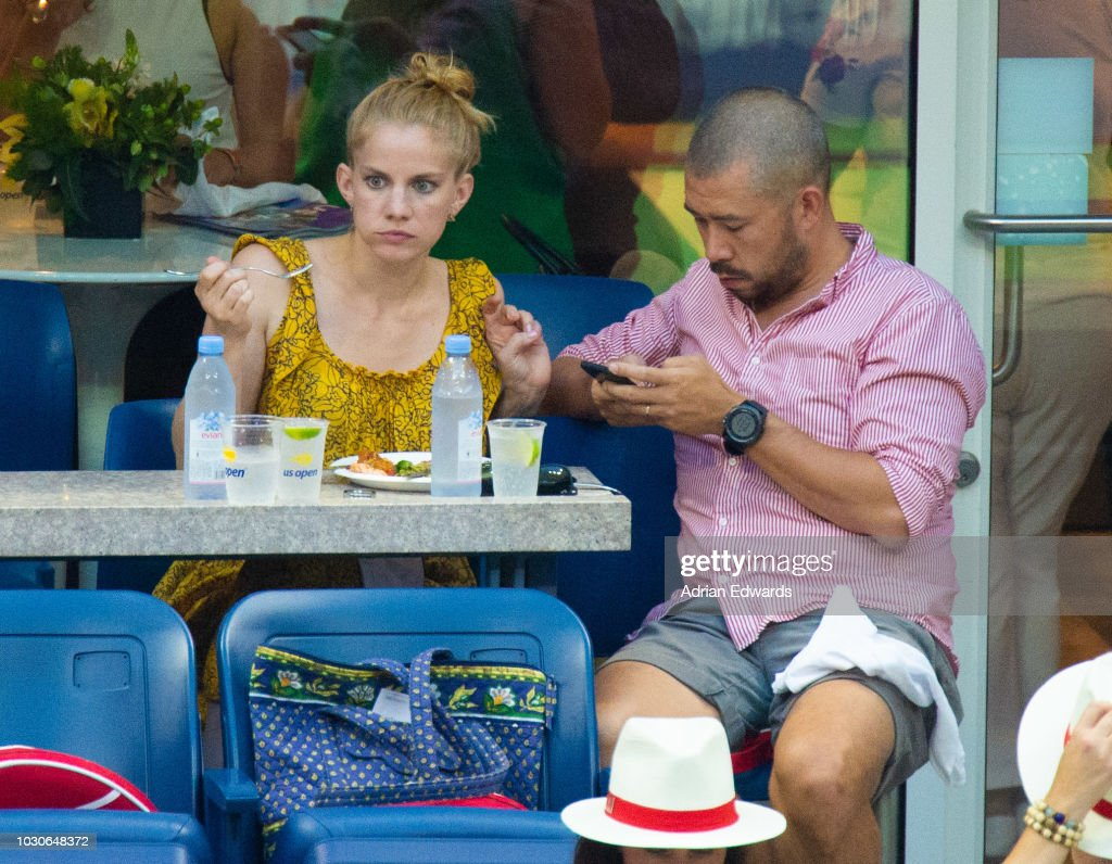 Anna Chlumsky And Shaun So At Day 8 Of The Us Open Held At The Usta