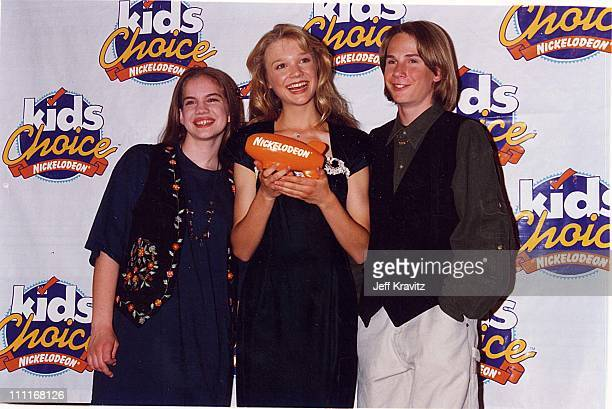 Anna Chlumsky Ariana Richards Austin O'Brien during 1994 Kid's Choice Awards in Los Angeles California United States