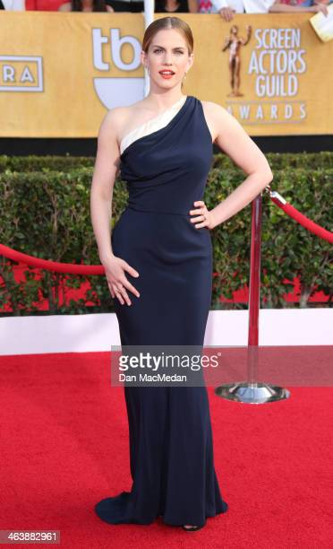 Anna Chlumsky arrives at the 20th Annual Screen Actors Guild Awards at the Shrine Auditorium on January 18 2014 in Los Angeles California