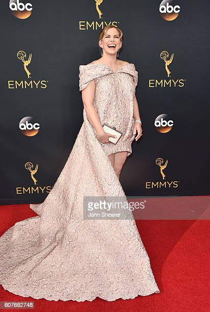 Anna Chlumsky arrives at the 68th Annual Primetime Emmy Awards at Microsoft Theater on September 18 2016 in Los Angeles California