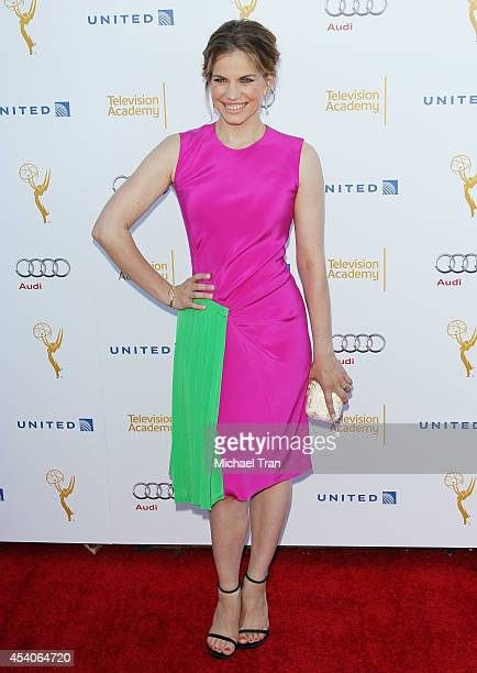 Anna Chlumsky arrives at the Television Academy Performers Nominee Reception for The 66th Emmy Awards held at Spectra by Wolfgang Puck at the Pacific...