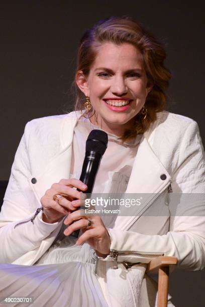 Anna Chlumsky attends 'Meet The Actor' at Apple Store Soho on May 13 2014 in New York City