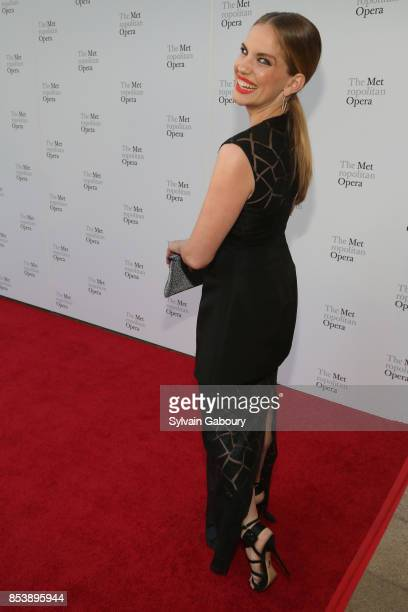 Anna Chlumsky attends Metropolitan Opera Opening Night Gala at Lincoln Center on September 25 2017 in New York City