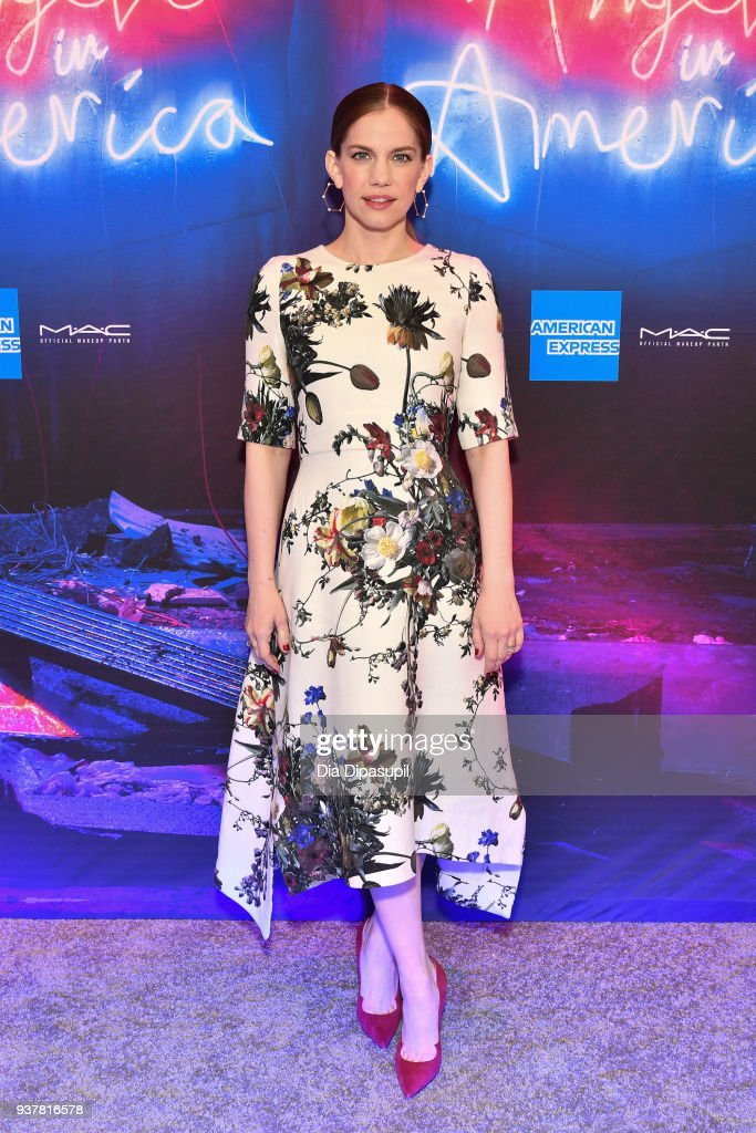 Anna Chlumsky attends the 'Angels in America' Broadway Opening Night part 1 arrivals at the Neil Simon Theatre on March 25, 2018 in New York City.
