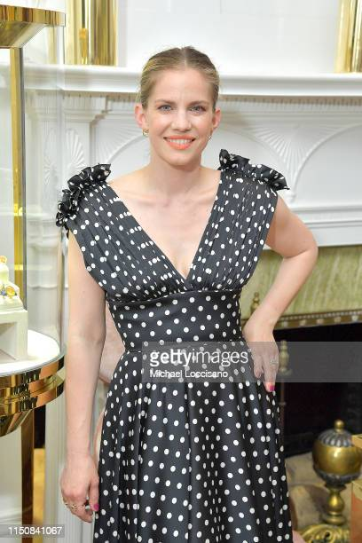 Anna Chlumsky attends the one year anniversary celebration of The Curated NYC at the Christian Siriano The Curated NYC boutique on May 21, 2019 in...