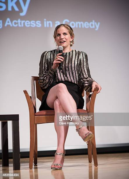 Anna Chlumsky attends the SAG Foundation and Backstage Conversations Emmy series with Anna Chlumsky of 'VEEP' at The New School on August 10 2015 in...