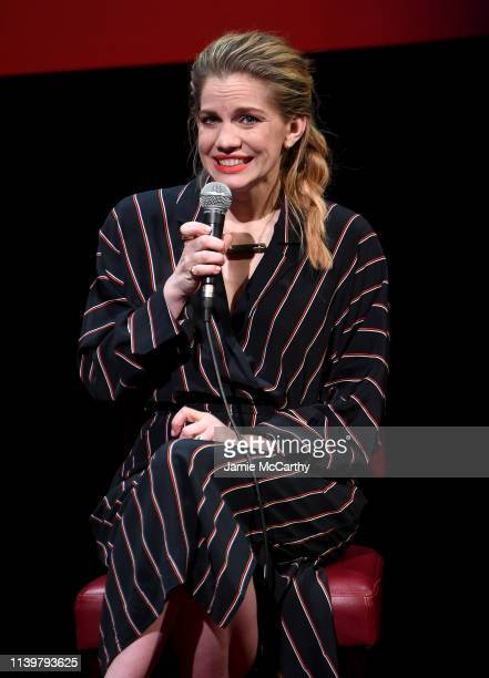 "Anna Chlumsky attends the SAG-AFTRA Foundation Conversations: ""Veep"" With Anna Chlumsky at The Robin Williams Center on April 01, 2019 in New York..."