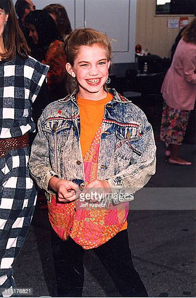 Anna Chlumsky during 1992 MTV Movie Awards in Los Angeles, California, United States.