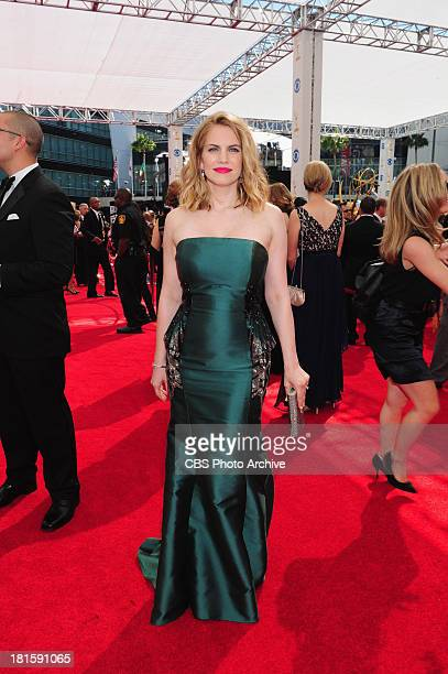 Anna Chlumsky from Veep on the red carpet for the 65th Primetime Emmy Awards  which will be broadcast live across the country 8001100 PM ET/ 500800...