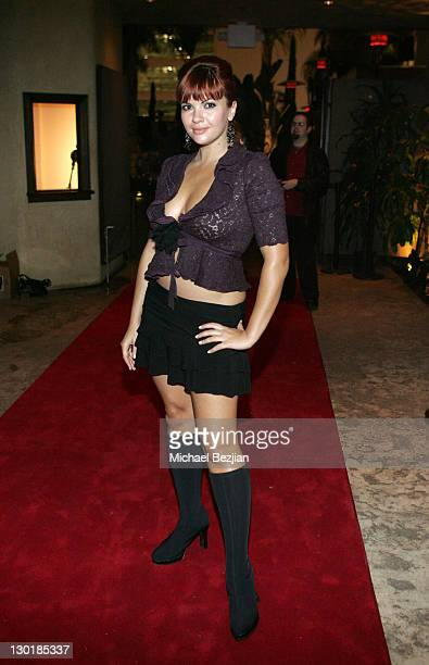 Anna Chudoba during LA Fashion Week Wrap Party hosted by Meghan Fabulous and Niki Shadrow at Cabana Club in Los Angeles California United States