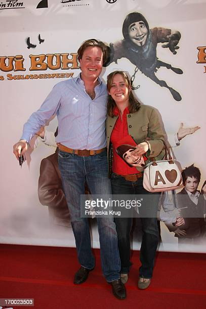 "Anna Clarin and boyfriend Marco Schütt At The Premiere Of ""Hui Buh - The Goofy Ghost"" At The Mathäser movie palace in Munich 160706."