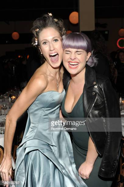 Anna Cleveland and Kelly Osbourne attend 'M·A·C Antonio' Collection Launch Event at The Odeon on September 8 2013 in New York City