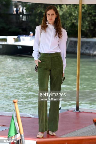 Anna Cleveland arrives at the 78th Venice International Film Festival on September 04, 2021 in Venice, Italy.