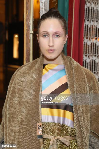Anna Cleveland attends a dinner in Paris to celebrate Another Magazine A/W17 hosted by Vivienne Westwood Andreas Kronthaler Jefferson Hack Susannah...