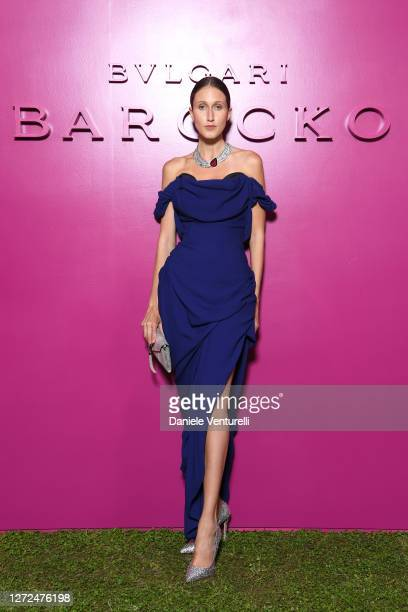 Anna Cleveland attends Bulgari Barocco on September 14, 2020 in Rome, Italy.