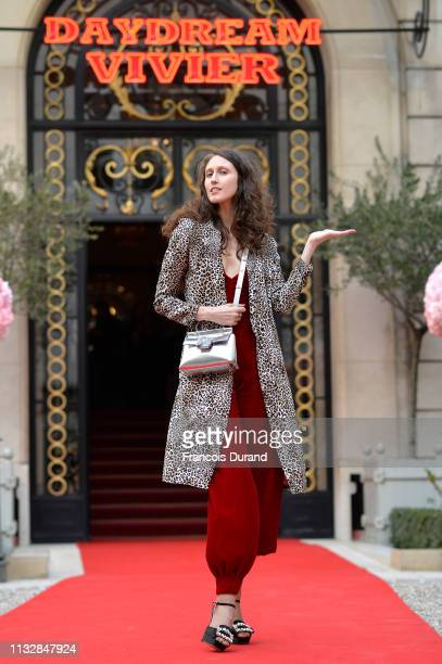 Anna Cleveland attends Roger Vivier Day Dream Vivier Press Day during Paris Fashion Week Womenswear Fall/Winter 2019/2020 at Fondation Cino et Simone...