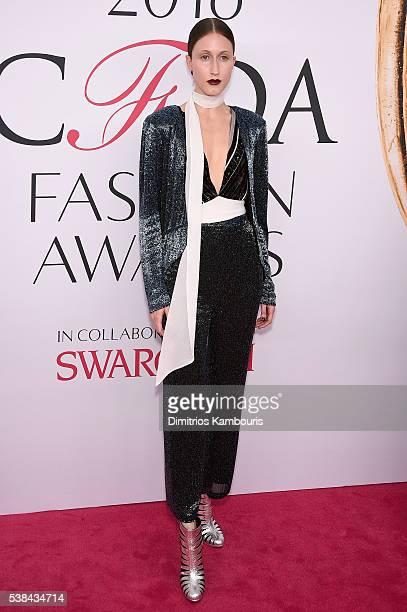 Anna Cleveland attends the 2016 CFDA Fashion Awards at the Hammerstein Ballroom on June 6, 2016 in New York City.