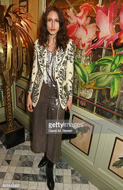 Anna Cleveland attends the adidas Originals by Rita Ora dinner at The Ivy Chelsea Garden on November 23 2016 in London England